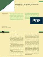 Produzir a Subjetividade o Si No Enfoque de Michel Foucault