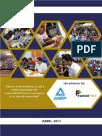 Estudio Aporte de La Empresas Al Pais a Traves de Practicas de RSE en El Area De