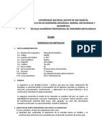 Sílabo Minerales No Metaálicos II Sem 2017 M Cabrera