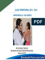 Plan Salud Territorial 2012 - 2015
