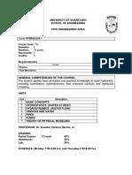 Syllabus Hydraulics i