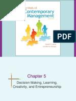 3. Decision Making, Learning, Creativity, And Entrepreneurship