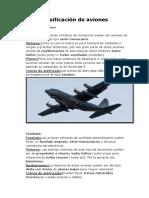 Clasificación de Aviones