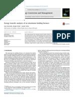 Exergy Transfer Analysis of an Aluminum Holding Furnace