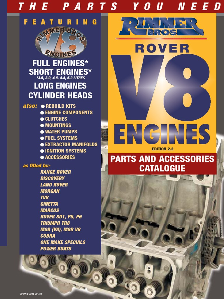 Rimmer Rover V8 Engine Catalogue Cheque Fuel Injection P5b Fuse Box