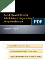 Betuk-Bentuk Konflik Administrasi Negara Dan Cara Penyelesaiannya