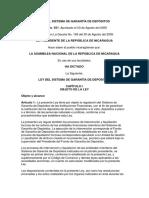 Ley 551 Ley Del Sistema de Garantía de Depósitos