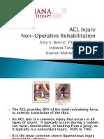 ACL Injury Nonoperative Rehab