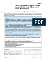 Efficacy of Modafinil on Fatigue and Excessive Daytime Sleepiness Associated With Neurological Dsorders