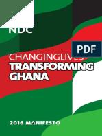 2016 NDC Manifesto Full