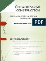Generalidades de La Gestion Empresarial