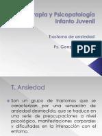 Psicoterapia y Psicopatología Infanto Juvenil 2015