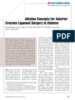 Curren Rehabilitation Concepts for Anterior Cruciate Ligamanet Surgery in Athletes