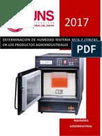 Analisis Instrumental Determinacion de Humedad