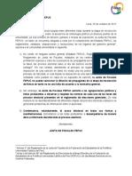 Comunicado N° 1 JF - FEPUC