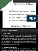Exposicion de Hoy Plan de Cierre de Minas