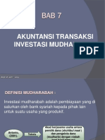 Bab 7 Akuntansi Transaksi Investasi Mudharabah