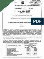 Decreto 1014 Del 09 de Junio de 2017