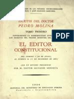 El Editor Constitucional Escritos Pedro Molina