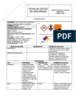 Ficha de Seguridad-Formol