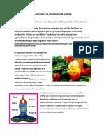 La Nutrición y La Relación Con La Química