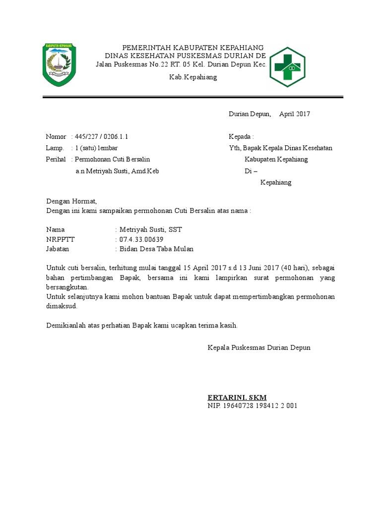 Surat Cuti Metridoc