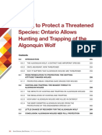Ontario environmental commissioner's report on the threatened Algonquin wolf species