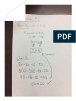 notes - multi step equations