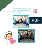 Sesion Educativa en Chanchajalla Sobre Dengue y Toma de Signos Vitales