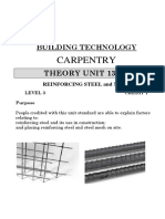 UNIT13009Theory; Reinforcing Steel