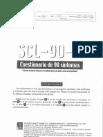 Cuestionario de Sintomas Scl 90 r