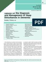 Sleep Disorders in Dementia