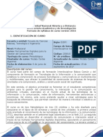Syllabus Del Curso Herramientas Digitales Para Da Gestion de Conocimiento