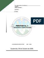 Reporte No. 5 (Bioquímica Computacional)