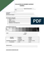 Ficha de Evaluacion de Mano
