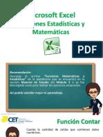 5- Funciones Matemáticas - Estadísticas