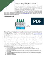 6 Cara Bercocok Tanam Hidroponik Bagi Pemula Di Rumah