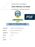 Teoría de La Responsabilidad Civil - Cas. Nº 1762-2013 Lima