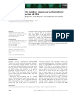 Insights Into the Genetics of CCM