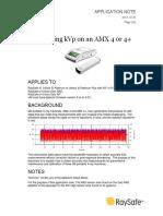 Application Note - Measuring KVp on an AMX 4 or 4plus-2013!10!30