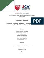 Facultad de Ingeniería Informe Estudio de Trabajo