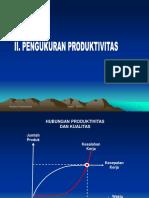 2. Pengukuran Produktivitas