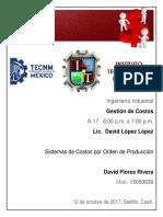 Sistema de Costos Por Orden de Produccion