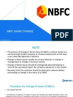 Procedure for Change of Name of NBFC Company