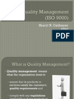 Quality Management(ISO 9000)