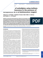 Determination of Amlodipine Using Terbium