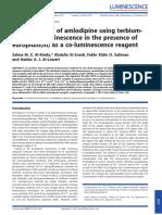 Determination of Amlodipine Using Terbium