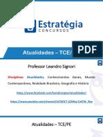 Atualidades - Curso Intensivo - TCE-PE - Prof Leandro Signori