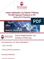 FE 800 Asset Replication via Kalman Filtering Final Presentation