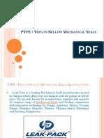 PTFE Bellows Seal Manufacturer India, Teflon Bellow Mechanical Seal Supplier